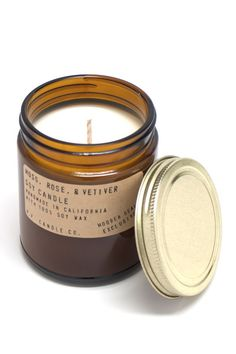 Moss, Rose, & Vetiver-- all my favorite scents in one candle!