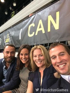 @InvictusLondon Peter and Autumn Phillips with Pippa and James Middleton
