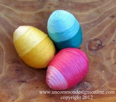 Ombre' thread wrapped Easter eggs tutorial.