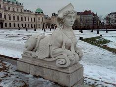 Vienna - Belvedere in winter.