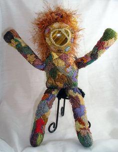 Bead Embroidered Spirit Doll - Autumn
