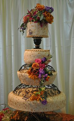 Ivory&Gold- Wedding cake- The cake Zone- Marie Selby Gardens-Sarasota-FL | Flickr - Photo Sharing!
