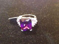 Purple Stone Silver Ring