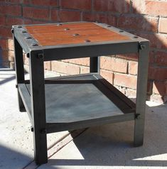 Vintage Industrial Table. Modern Industrial, Rustic, Retro, Urban, Mid Century Modern Design Furniture. $350.00, via Etsy.