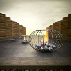 Outdoor Fire Feature by Elena Colombo The circle ball fireplace