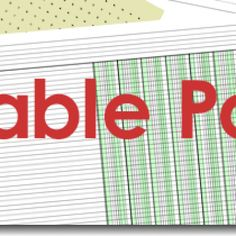 Great resource - over 830 printable papers, ranging from graph paper, sheet music, yahtzee score cards, check registers, handwriting paper and everything in-between.