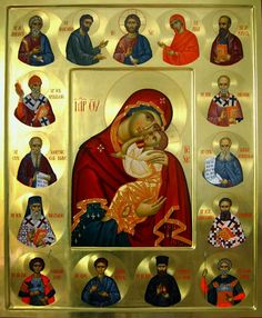 Dođi i vidi Religious Images, Religious Icons, Religious Art, Byzantine Icons, Byzantine Art, Christian Artwork, Madonna And Child, Blessed Virgin Mary, Art Icon