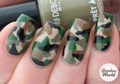 Camouflage Nail Art Final