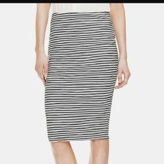 Vince Camuto stripe pencil Skirt! Vince Camuto stripe pencil Skirt In EXCELLENT condition Ready to wear. Elastic Stretch material Firm Vince Camuto Skirts Midi