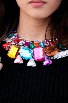 Colorful Statement Necklace -  $49.99 USD