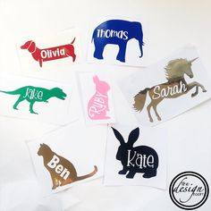 Picture name decals - perfect for back to school. If we don't have the image you want just let us know 🤓 . Website link in bio…
