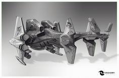 """USMC - Hawker """"Devil Ray"""" MK-III V/STOL, Tony Leonard on ArtStation at https://www.artstation.com/artwork/usmc-hawker-devil-ray-mk-iii-v-stol"""
