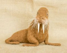 | Kennedy the Walrus: Needle felted