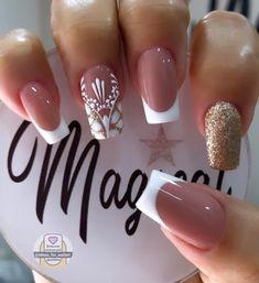 French Manicure Nail Designs, Gel Nail Art Designs, Home Nail Salon, Black Acrylic Nails, Disney Nails, Dream Nails, Super Nails, Beauty Nails, Pretty Nails