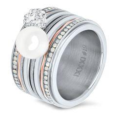 IXXXi Ring compleet zilver met parel