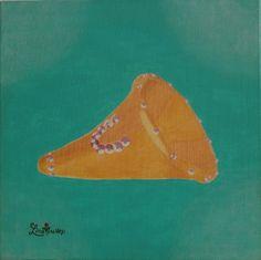 Cornucopia of My... (Turquoise Version) Original Acrylic painting 40 cmx40 cm