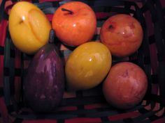 Mid Century Modern Fruits Alabaster Marble Apples Pears Eggplant - Some w Stems #unknown