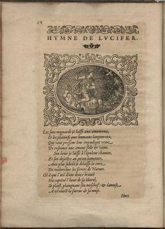 Hymne de Lucifer. Hymnes du temps et de ses parties, Lyon, Jean de Tournes, 1560, in-4, exemplaire remonté (BmL, Rés 373727, p. 12).