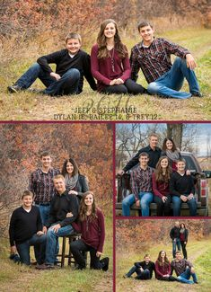 Your place to buy and sell all things handmade Maroon & Gold Christmas Photo Card · Christmas Photo Collage · Rustic 5 photo Cards Adult Family Photos, Family Pictures What To Wear, Winter Family Photos, Fall Family Portraits, Large Family Photos, Family Portrait Poses, Outdoor Family Photos, Family Christmas Pictures, Family Posing