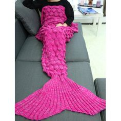 SHARE & Get it FREE | Soft Knitting Fish Scales Design Mermaid Tail Style BlanketFor Fashion Lovers only:80,000+ Items·FREE SHIPPING Join Dresslily: Get YOUR $50 NOW!
