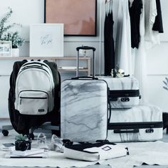 calpak-marble-luggage_2016_08 Luggage Sets Cute, Best Luggage, Travel Luggage, Luggage Bags, Travel Bags, Luxury Luggage, Fun Travel, Cute Suitcases, Suitcase Packing