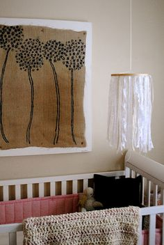 Isn't this sweet? DIY baby lace mobile by @Ashley Walters Johnston