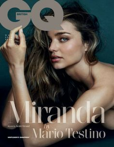 The breathtaking Miranda Kerr takes the cover of GQ UK magazine's May 2014 edition lensed by the legendary fashion photographer Mario Testino. Gq Magazine Covers, Magazine Vogue, Fashion Magazine Cover, Fashion Cover, Mario Testino, Orlando Bloom, Barbara Palvin, Vanity Fair, Foto Glamour