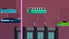 Dayglow Empire: Cyberpunk Anti-shmup Platform Runner game screenshot