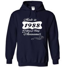 awesome  Years of Awesome 1988  Check more at http://pintshirts.net/birth-years-t-shirts/low-cost-years-of-awesome-1988-order-now.html