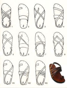 Victor Powells Workshop sandals styles drawing