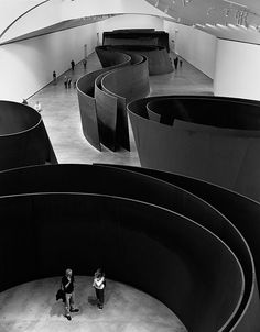 Richard Serra - This is not only an artist that I admire but also this particular permanent exhibition at the Guggenheim in Bilbao is one of my top modern art favourites no doubt
