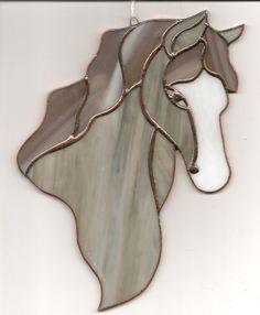 Horse Grey White Suncatcher