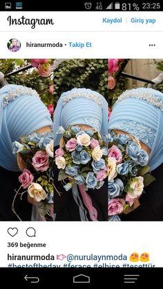 Hijab Bride, Hijab Styles, Turban, Kaftan, Hijab Fashion, Floral Wreath, Wreaths, Instagram, Turbans