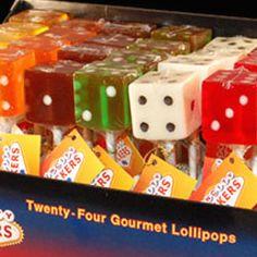 Dice Lollipops, Las Vegas Favors, Wedding Lollipops!!!