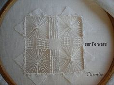 Drawn Thread, Needle Lace, Lace Making, Embroidery Stitches, Needlework, Diy And Crafts, Deco, How To Make, Hobby