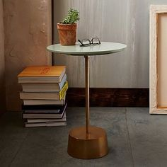 Option for Side Table between Chairs in Nook - LOOK AT THE NESTING TABLE - Maisie Side Tables #westelm