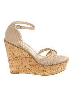 Jane Norman Natural Wedge Cork Heels