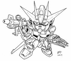 SD Gundam Coloring Pages