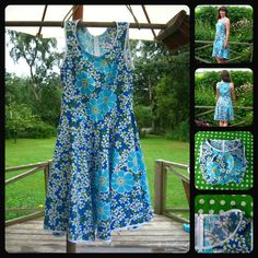 Dress made of vintage fabric Dress Making, Summer Dresses, Fabric, Vintage, Fashion, Tejido, Moda, Tela, Sundresses
