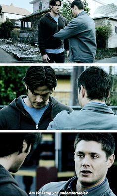 4x15 Death Takes A Holiday [gifset] - Am I making you uncomfortable? - Sam & Dean Winchester