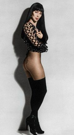 Well, it was almost as if Cher were nude. More Celebrity Nudity: Playboy: The Celebrities (book) Playboy:. Beautiful Red Hair, Gorgeous Women, Cher Costume, Female Rock Stars, Cher Photos, Cher Bono, Pantyhose Outfits, Stockings Lingerie, Woman Crush