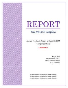 report templates microsoft word