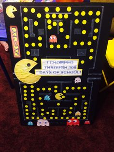 100 days of school PacMan Project!