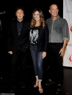 Paul McCartney with Rita Wilson and Tom Hanks (doing Shakespeare)