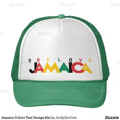 Jamaica Colors Text Design Hat @zazzle May 2 2016