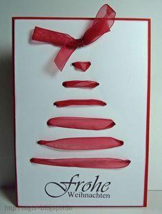 Weihnachtskarten basteln | Niedliche Idee für eine selbstgemachte ...