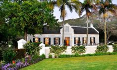 An immaculately restored Dutch homestead with an award-winning restaurant, Grande Roche Hotel is set in immaculately manicured gardens in the famous Paarl wine region. Holland, South African Homes, Cape Dutch, Dutch House, Namibia, Dutch Colonial, Modern Colonial, Cape Town South Africa, D House