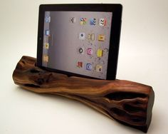 Manzanita Wood iPad Docking Station ICN 164 by rockapplewood