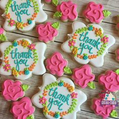 Pretty thank you cookies