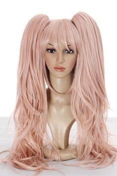 Hot! Coming ! Danganronpa Junko Enoshima Pink Cosplay Wig Party Wig